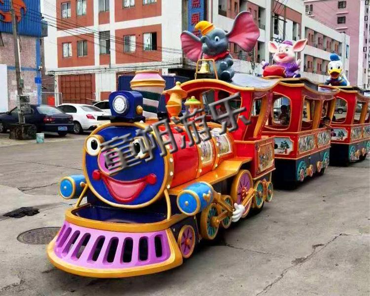 小丑无轨道火车