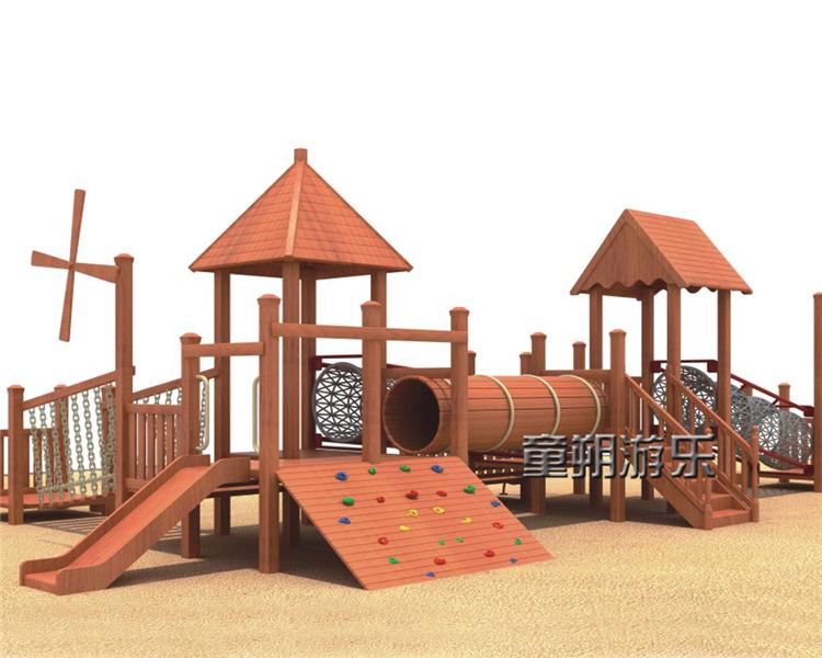 木质幼儿园组合滑梯
