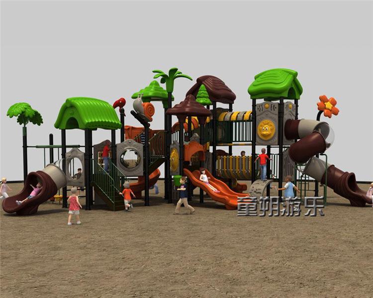 幼儿园组合滑梯 塑料材质