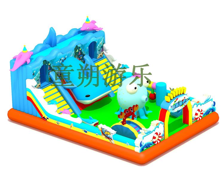 海豚充气城堡